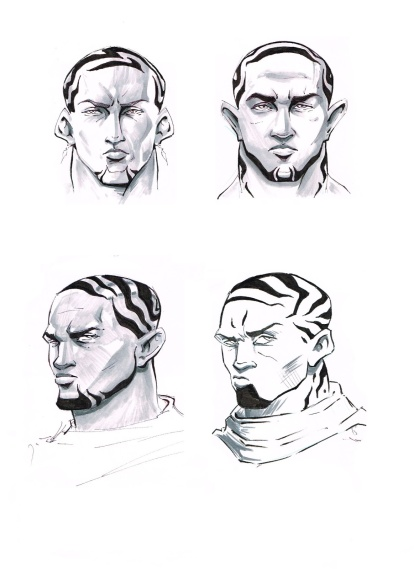 Concepts for Blusage and his race
